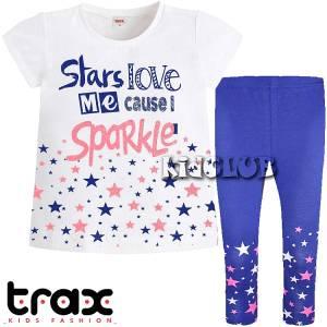 Σετ μπλούζα και κολάν κορίτσι με τύπωμα Cause TRAX
