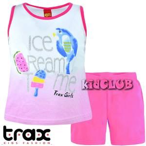 Σετ μπλούζα και κολάν κορίτσι με τύπωμα ice cream TRAX