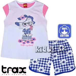 Σετ μπλούζα και σορτς κορίτσι με τύπωμα Friend TRAX