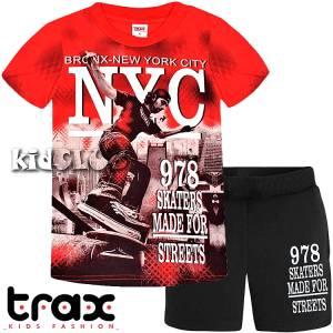 8f8b32bd318 Σετ μπλούζα με κοντό παντελόνι αγόρι με τύπωμα Streets TRAX
