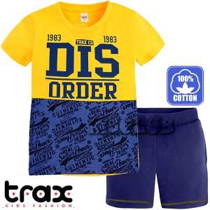 Σετ μπλούζα με κοντό παντελόνι αγόρι με τύπωμα Dis TRAX