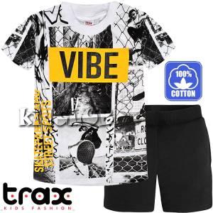 Σετ μπλούζα με κοντό παντελόνι αγόρι με τύπωμα Street TRAX