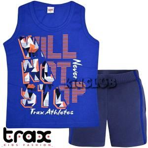 Σετ μπλούζα τιράντες με κοντό παντελόνι αγόρι τύπωμα stop Trax