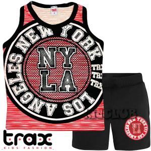Σετ μπλούζα τιράντες με κοντό παντελόνι αγόρι τύπωμα L.A. Trax