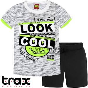 8d73d4cdf8e Σετ μπλούζα με κοντό παντελόνι αγόρι με τύπωμα Look TRAX
