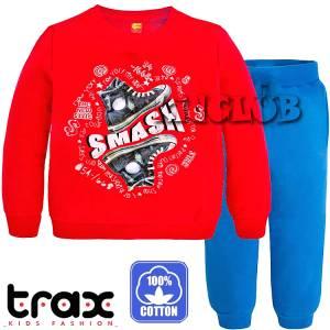 Φόρμα ψιλή βαμβακερή τύπωμα Smash TRAX