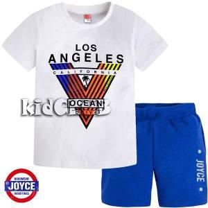 Σετ μπλούζα με κοντό παντελόνι αγόρι με τύπωμα L.A. Joyce