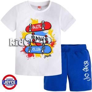 Σετ μπλούζα με κοντό παντελόνι αγόρι με τύπωμα πατίνια Joyce