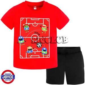 Σετ μπλούζα με κοντό παντελόνι αγόρι με τύπωμα soccer Joyce