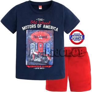 Σετ μπλούζα με κοντό παντελόνι αγόρι με τύπωμα Service Joyce