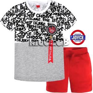 Σετ μπλούζα με κοντό παντελόνι αγόρι με τύπωμα Arthur Joyce