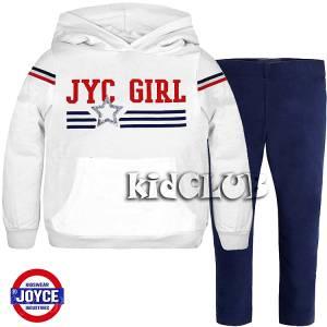 Σετ μακρυμάνικη μπλούζα και κολάν με κουκούλα κορίτσι Joyce