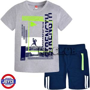 3ba335bd700 Σετ μπλούζα με κοντό παντελόνι αγόρι με τύπωμα strengt Joyce