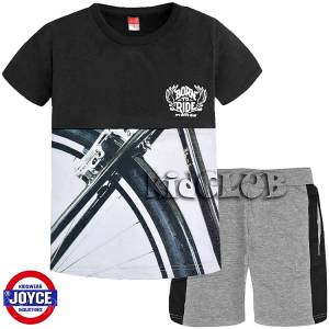 11ff397a37a Σετ μπλούζα με κοντό παντελόνι αγόρι με τύπωμα ride Joyce