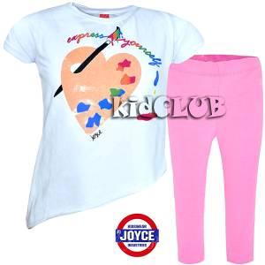 Σετ μπλούζα και κολάν κορίτσι με τύπωμα colors Joyce