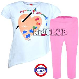 0253877dfd3 Σετ μπλούζα και κολάν κορίτσι με τύπωμα colors Joyce