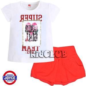 Σετ μπλούζα κοντομάνικη με φούστα Super κορίτσι Once Joyce