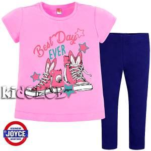 Σετ μπλούζα και κολάν κορίτσι με τύπωμα Shoes Joyce
