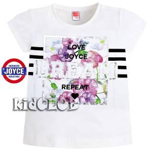 Μπλούζα κοντομάνικη κορίτσι με τύπωμα Repeat Joyce