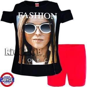 Σετ μπλούζα και κολάν κορίτσι με τύπωμα Glasses Joyce