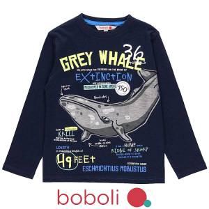 Μπλούζα μακρυμάνικη αγόρι σταμπωτή whale της Boboli