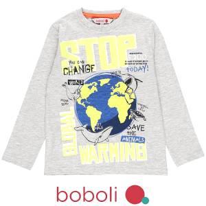 Μπλούζα μακρυμάνικη αγόρι σταμπωτή save της Boboli