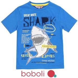 Μπλούζα κοντομάνικη αγόρι σταμπωτή carnivore της Boboli