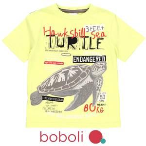 Μπλούζα κοντομάνικη αγόρι σταμπωτή endangered της Boboli
