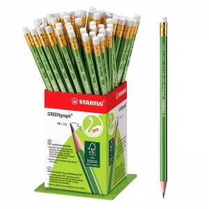 Μολύβι με Γόμα Green STABILO