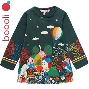 Φόρεμα με τύπωμα δέντρα κοριτσίστικο Boboli