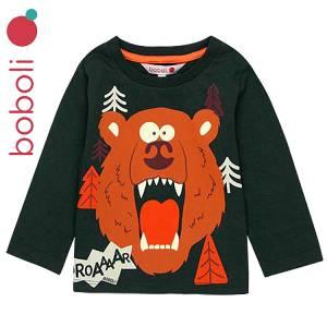 Μπλούζα μακρυμάνικη αγορίστικη με τύπωμα Αρκούδα Boboli