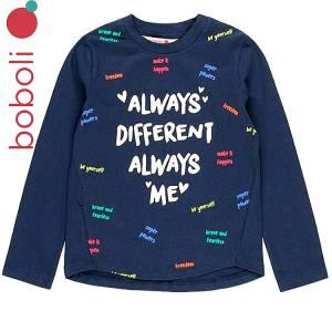 Μπλούζα μακρυμάνικη κοριτσίστικη με τύπωμα diferent Boboli