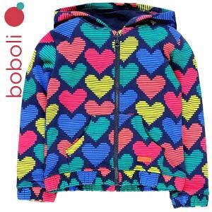 Ζακέτα φούτερ με τύπωμα Hearts κοριτσίστικη Boboli