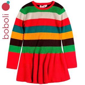 Φόρεμα πλεκτό ριγέ κοριτσίστικο Boboli