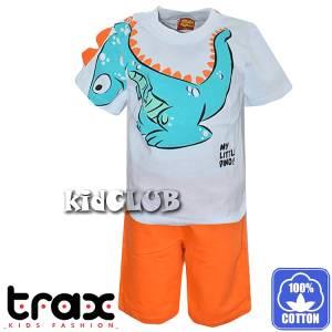 Σετ μπλούζα με βερμούδα παντελόνι αγόρι με στάμπα Dragon Trax