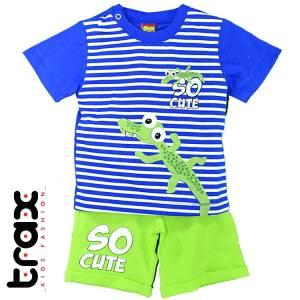 Σετ μπλούζα με βερμούδα παντελόνι baby αγόρι με στάμπα Aligator Trax