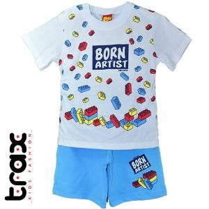 Σετ μπλούζα με βερμούδα παντελόνι baby αγόρι με στάμπα Artist Trax