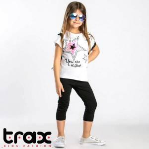 Σετ μπλούζα και κολάν κορίτσι με πούλιες Trax