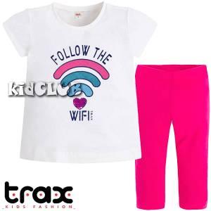 Σετ μπλούζα και κολάν κορίτσι σταμπωτό Follow Trax