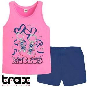 Σετ μπλούζα και σορτς κορίτσι σταμπωτό Love Trax