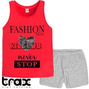 Σετ μπλούζα και σορτς κορίτσι σταμπωτό Never Trax