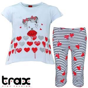 Σετ μπλούζα και κολάν κορίτσι με στάμπα Girl Trax