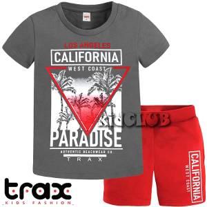 Σετ μπλούζα με βερμούδα παντελόνι αγόρι με στάμπα L.A. Trax