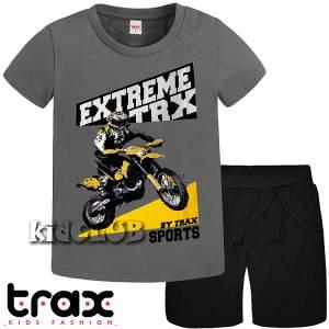 Σετ μπλούζα με βερμούδα παντελόνι αγόρι με στάμπα Moto Cross Trax