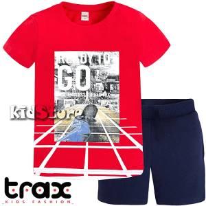 Σετ μπλούζα με βερμούδα παντελόνι αγόρι με στάμπα Ready Trax