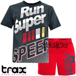 Σετ μπλούζα με βερμούδα παντελόνι αγόρι με στάμπα Super Trax
