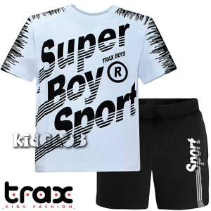 Σετ μπλούζα με βερμούδα παντελόνι αγόρι με στάμπα Sport Trax