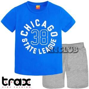 Σετ μπλούζα με βερμούδα παντελόνι αγόρι με στάμπα League Trax