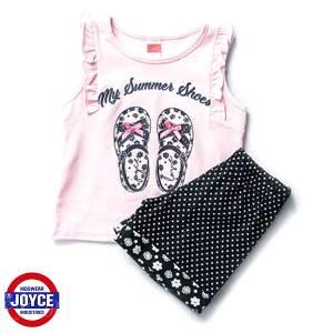 Σετ μπλούζα και σορτς κορίτσι σταμπωτό Summer Joyce