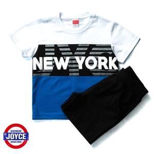 Σετ μπλούζα με βερμούδα παντελόνι αγόρι με στάμπα N.Y. Joyce